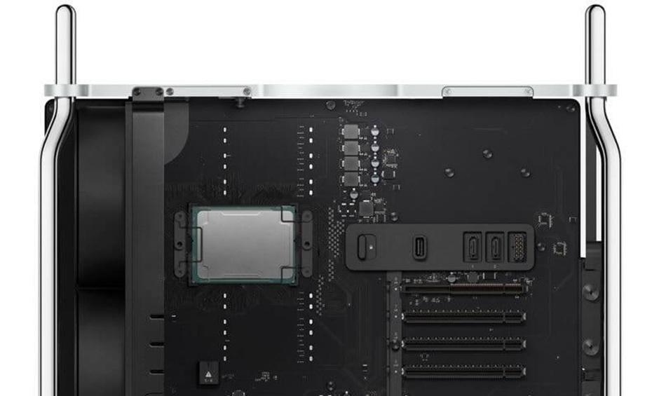 Bộ xử lý của Mac Pro Tower là Xeon W của Intel, với số lượng từ 8 cores đến 28 cores