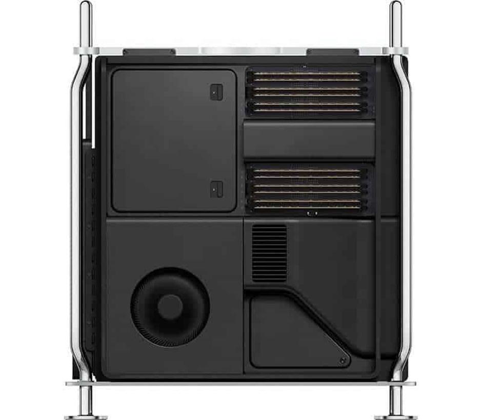 Mac Pro Tower có thể được hỗ trợ lên tới 1,5TB của bộ nhớ DDR4 ECC trong 12 khe DIMM